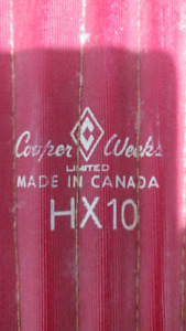 vintage rare antique cooper weeks hx10 limited shin pads