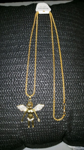 """18k gold plated cz bling Angel chain hip hop 30 """""""