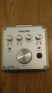 Interface audio Tascam Us 322