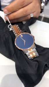 Movado Men's Museum Classic watch Blue dial Rose gold stainless