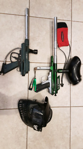 2 Paintball guns/markers & kit
