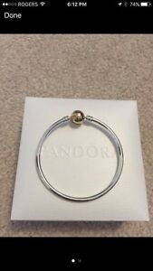 Pandora 14K clasp bangle