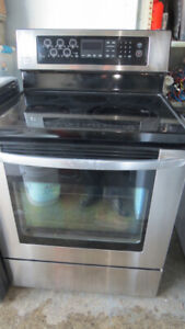 LG Glass Top Stainless Steel Convection Self clean Stove