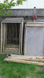 Wood Privacy Screen/Fence for Hot Tub or Back Yard