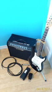 Fender Strat + Line6 Amp + wahwah + more (price dropped 2x)