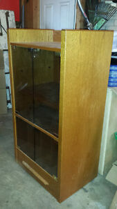 Stereo Stand (wood) with Glass Doors