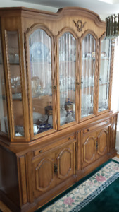 French Antique China Cabinet Display Hutch