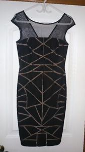 NEVER WORN: Beautiful and sophisticated black/nude cutout dress