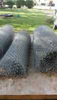 100 ft of 6 ft  galvanized chain link fence