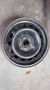 "16"" x 6.5"" black Snow tire rims Cornwall Ontario image 1"