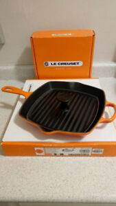 Le Creuset panini press and skillet grill set