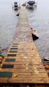 Cottage lake docks an stairs