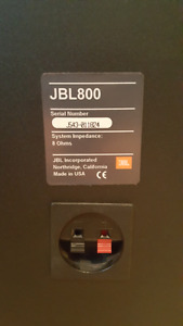 JBL 800 series bookshelf speakers