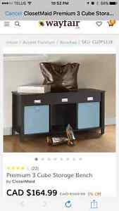 BNIB Closet Maid entryway bench