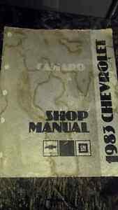 Camero shop manual