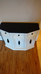 Refurbished beautiful entry table cabinet hallway table