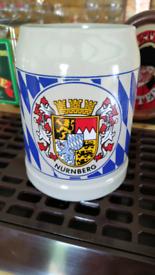 Nurnberg Germany 0.5 litre beer stein crock, pub