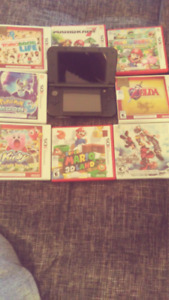 new 3ds, power supply, 8 games in box