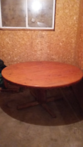 cedar table and chairs and other items