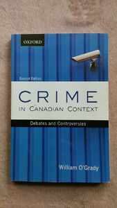 Crime in Canadian Context ISBN: 978-0-19-543378-4