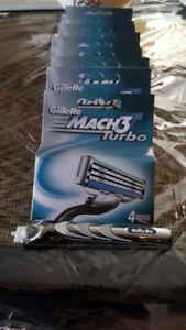 Gillette Turbo Razors - 10 sets of 4 = 40 Pcs