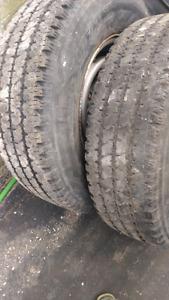 Pair of  chevy express savana steel wheels