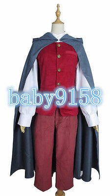 Hot! The Hobbit frodo cos Outfit Suit Cosplay Costume Full Set MM.926