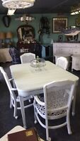 Antique shabby chic dining table $489 s