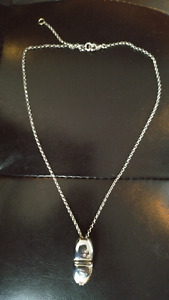 NECKLACE STAMPED 925 STERLING SILVER 8 INCH