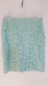 NEW - Mint green, lace overlay, pencil skirt