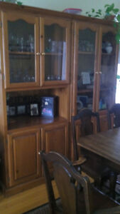 Notty pine wood wall unit- 2 pieces