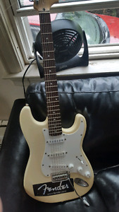 Fender squier strat with amp and case!