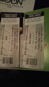 Vip tickets for both nights