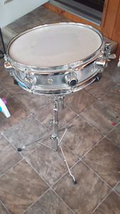 Dixon Chrome Snare Drum and Stand