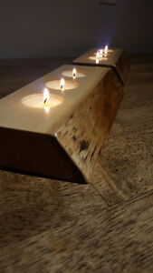 Hand Crafted Live Edge Tea Light Holders (Maple) London Ontario image 3