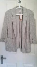 Women's TU grey Coatigan size 14