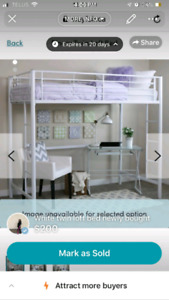 Twin/single loft bed