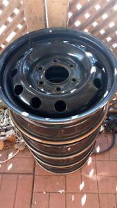 16 x 139.7 x 6 BOLT like new Steel RIMS