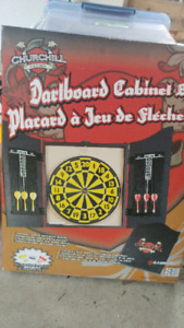 *New* Dartboard and Cabinet