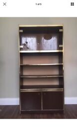 Pair of retro cabinets, shelves and drinks cabinet 60s 70s style