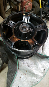 """20"""" F350 Harley Davidson powder coated rims with 8x 2"""" spacers"""
