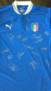 Italy national team signed autographed soccer jersey, Buffon ++