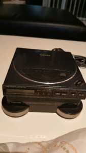 TOSHIBA #XR 9458 CD player ( for repair) with original charger.