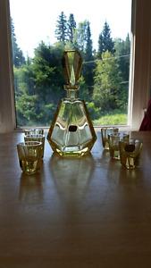 Bohemia crystal decanter/shot glass set