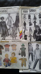 Multi-sized patterns for sewing infant, children & adult clothes