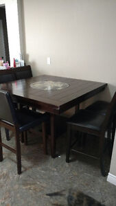 Cherry Oak kitchen table with a Lazy Susan center