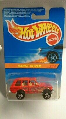 HOT WHEELS RANGE ROVER 1995 RED W/ FLAMES DIECAST 1:64