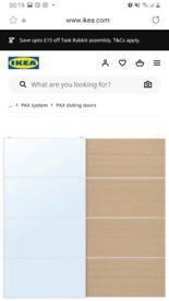 Bargain IKEA PAX slidding wardope doors