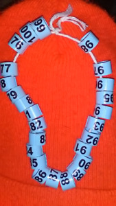 25 numbered call duck or bantam Chicken leg band