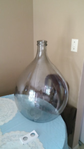 Large pear shaped glass bottle